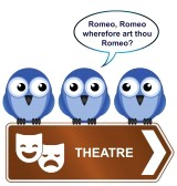 12197137-theatre-sign-with-bird-reciting-from-a-play