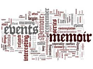 memoir word cloud